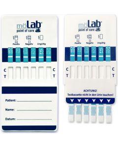 Drogentest möLab, Multi-Dip Test 8fach, 10 Test